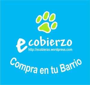 Ecobierzo. 2014. Pegatina infantil 'Compra en tu barrio'.